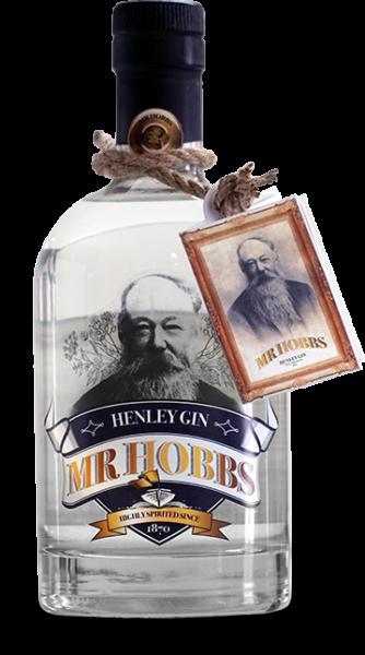 Mr Hobbs original gin bottle