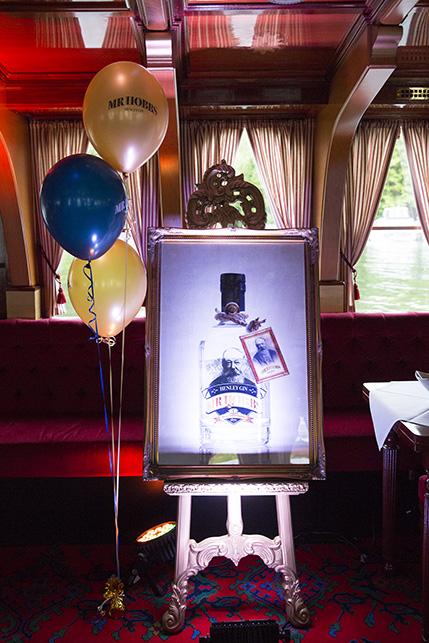 Mr Hobbs gin bottle picture in frame